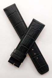 "Black leather crocodile-style strap to fit Baume & Mercier Capeland models requiring a 20 mm strap (NOT for Capeland ""S"" models)"
