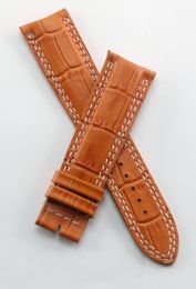 21 mm tan crocodile style leather strap to fit JLC Master Compressor 41.5 mm models