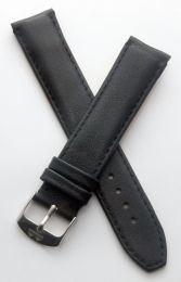 19 mm Heuer Carrera Style Classic smooth leather pin buckle strap