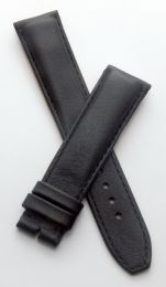 Black Classic smooth genuine leather 20/18 mm pin buckle strap with black stitching to fit TAG Heuer Carrera/Grand Carrera models with 20 mm lug width