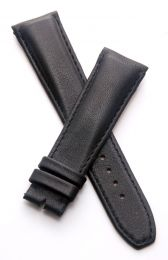 Black smooth genuine leather 22/18 mm pin buckle strap with black stitching to fit TAG Heuer Monaco models with 22 mm lug width