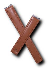 Tan genuine leather watch strap with matching stitching to fit TAG Heuer 6000 Series ladies watches