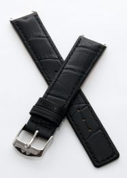 Black crocodile-style pin buckle strap to fit 6000 Series mid-sized models as listed