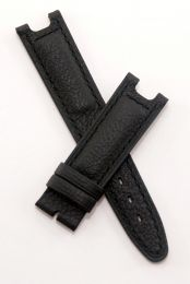 Black Buffalo Grain leather strap with black stitching to fit TAG Heuer S/el gents models as listed below