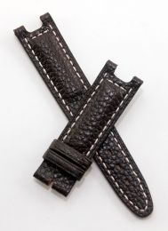 Dark Brown Buffalo Grain leather strap with white stitching to fit TAG Heuer S/el gents models as listed below