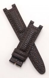 Dark Brown Buffalo Grain leather strap with brown stitching to fit TAG Heuer S/el gents models as listed below